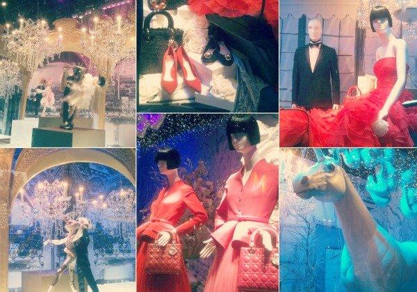 Витрины Dior в шопинг-молле Printemps
